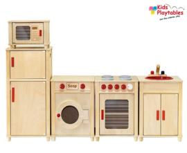 Kinderkeuken Speelgoed keuken Vigatoys Compleet 5-delig in Naturel
