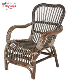 Rotan rieten kinderstoel bruin | Bandung fauteuil