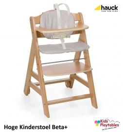 Hoge Kinderstoel Hauck Beta Plus Blank gelakt
