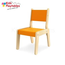 Kinderstoel - Schoolstoel- Simple kleur oranje