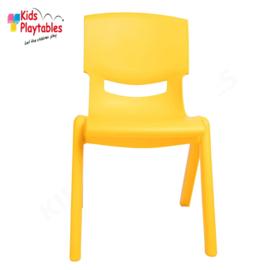 Kunststof Kinderstoeltje geel - zithoogte 25 cm - stapelstoel - schoolstoel -plastic stoel- kinderzetel - stoel kind - Peuterstoel - stapelbaar - kindertafel en stoeltjes van kunststof- plastic stoeltje voor peuters