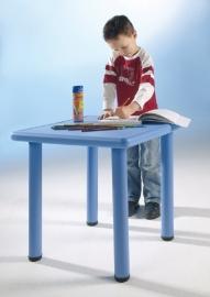 Vierkante kunststof kindertafel in 4 kleuren