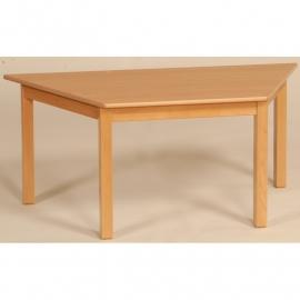 Trapezium tafel kinderopvang 140 x 70 cm