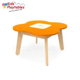 Kinder Speeltafel Simple met opbergruimte kleur oranje