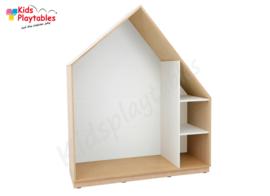 Kastenwand speelhuis met terugtrekruimte wit