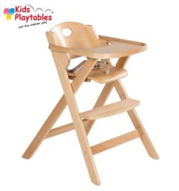 Hoge houten kinderstoel inklapbaar | Eetstoel baby | Horecastoel | Kinderzetel baby