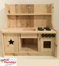 Kinderkeuken Speelgoed keuken | Steigerhout kinderkeuken blank onbehandeld