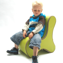 Design Kinderstoel, Kinderzetel Ozo Bone in de kleur Oranje