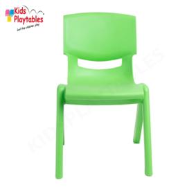 Kunststof Kinderstoeltje groen- zithoogte 25 cm - stapelstoel - schoolstoel -plastic stoel- kinderzetel - stoel kind - Peuterstoel - stapelbaar - kindertafel en stoeltjes van kunststof- plastic stoeltje voor peuters