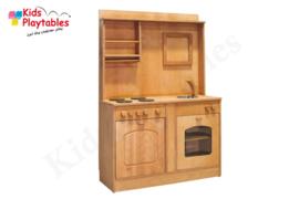 Kinderkeuken Speelgoed keuken met aanrecht, oven en gasfornuis