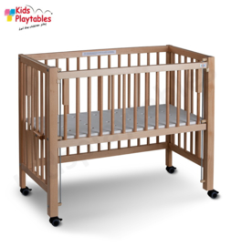 Ledikant Bedkant blanke lak   Co sleeper   Baby bed   Peuterbed   Kinderbed   Wieg   Bijzetbed   Kinderkamer   Kinderopvang