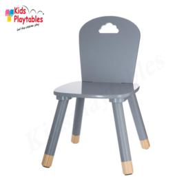 Kinderstoeltje Grijs | zithoogte 26 cm | kinderzetel | Houten stoeltje voor kinderen | stoel kind | Peuterstoeltje | kindertafel en stoeltjes van hout | houten stoeltje voor peuters
