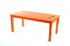 Rechthoekige kindertafel Rekenen Oranje