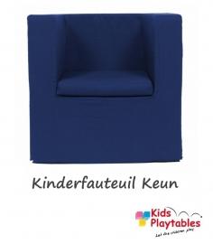 Kinderfauteuil Keun Katoen Marineblauw