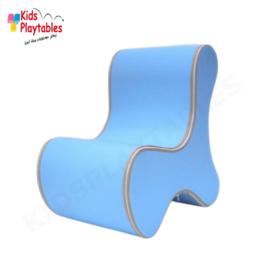 Design Kinderstoel, Kinderzetel Ozo Bone in de kleur Lichtblauw