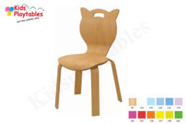 Houten Stapelbare HPL stoel , stapelstoel , kinderstoeltje Kitty | kinderopvang en BSO