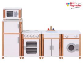 Kinderkeuken Compleet 5-delig in de kleur wit | Kleuterkeuken | Speelgoedkeuken