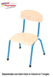Rechthoekige kindertafel set met 6 stoelen
