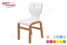 Houten Stapelbare HPL stoel , stapelstoel , kinderstoeltje Eden   kinderopvang en BSO