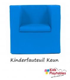 Kinderfauteuil Keun Katoen Turquoise Blauw