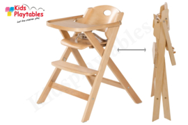 Hoge kinderstoel inklapbaar van hout   Eetstoel baby   Horecastoel   Kinderzetel baby
