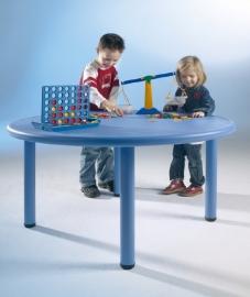 Ronde Kunststof kindertafel in 4 kleuren