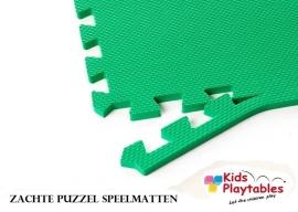 Zachte Puzzel Vloermatten set van 4 matdelen Groen