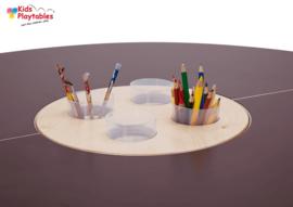 4-zits Kinderspeeltafel Tavi Bruin/Oranje