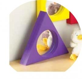 Vlakke Spiegel voor snoezelruimte Driekhoek Paars