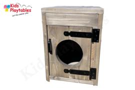Kinderkeuken Speelgoed keuken | Steigerhout Wasmachine peuters voor de kinderopvang