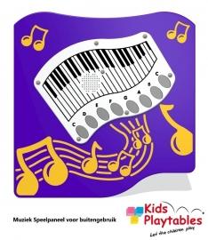 Wandspel voor buiten Muziekpaneel Piano