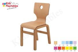 Houten Stapelbare HPL stoel , stapelstoel , kinderstoeltje Eden | kinderopvang en BSO