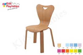 Houten Stapelbare HPL stoel , stapelstoel , kinderstoeltje Heart | kinderopvang en BSO