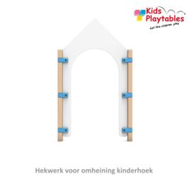 Hekwerk poort voor kinderhoek Kasteel