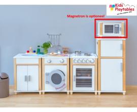 Kinderkeuken Compleet 4-delig in de kleur wit | Kleuterkeuken | Speelgoedkeuken