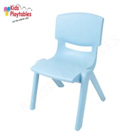 Kunststof Kinderstoeltje Lichtblauw- zithoogte 25 cm - stapelstoel - schoolstoel -plastic stoel- kinderzetel - stoel kind - Peuterstoel - stapelbaar - kindertafel en stoeltjes van kunststof- plastic stoeltje voor peuters - kunstof stoel
