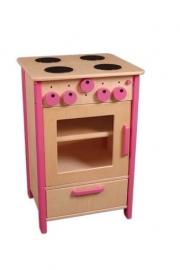Fornuis met oven en opbergvak voor kleuters Roze
