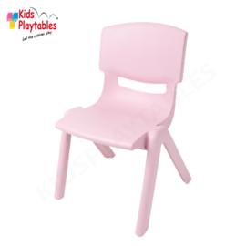 Kunststof Kinderstoeltje Roze- zithoogte 25 cm - stapelstoel - schoolstoel -plastic stoel- kinderzetel - stoel kind - Peuterstoel - stapelbaar - kindertafel en stoeltjes van kunststof- plastic stoeltje voor peuters - kunstof stoel