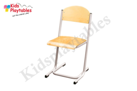 Zilverkleurige Stapelbare Schoolstoel Leerlingstoel U frame