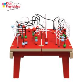 Kralentafel Speeltafel Kidsplaytables rood