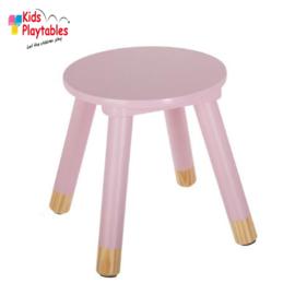 Houten krukje | Kleur roze | Kinderkrukje hout | kruk | kinderstoel | kinderzetel | krukjes | peuterstoeltje