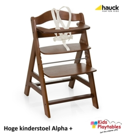 Hoge Kinderstoel Hauck Alpha Plus Walnoot