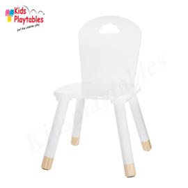 Kinderstoeltje Wit | zithoogte 26 cm | kinderzetel | Houten stoeltje voor kinderen | stoel kind | Peuterstoeltje | kindertafel en stoeltjes van hout | houten stoeltje voor peuters