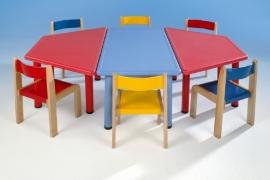 Rechthoekige kunststof tafel in 4 kleuren