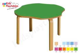 Houten Bloem Tafel kinderopvang 82 x 82 cm in div hoogtes en kleuren