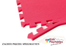 Zachte Puzzel Vloermatten set van 4 matdelen Rood