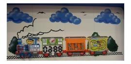 Beleduc Wand Spelpaneel Trein Locomotief