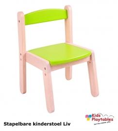 Stapelbare kinderstoel Liv Groen