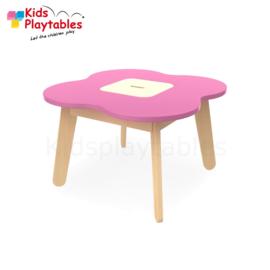 Kinder Speeltafel Simple met opbergruimte kleur roze