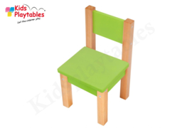 Houten HPL stoel kleur groen | zithoogte 28 cm | kinderzetel | Houten kinderstoeltje voor kinderen | stoel kind | Peuterstoeltje